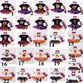 2016 26 style Girls Baby Christmas Halloween Rompers Tutu Dress set Halloween pumpkin Skull dress Rompers+headband+shoes E1094