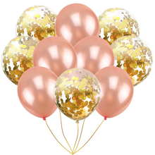 10pcs 12inch Confetti Balloon Rose Gold Wedding Balloons Birthday Party Decorations Adult Kids BabyShower Event Supplies