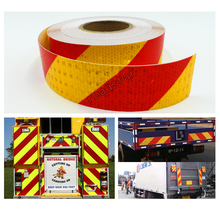 5x5cm/Roll Car Reflective Tape Stickers Auto Truck Pickup Safety Material Film Warning Styling Decoration