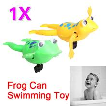 Baby Infant Bath Swimming Frog Clockwork Dabbling Toy Children Pool Bath Cute Toy Wind-Up Swim Frogs Kids Toy(China)
