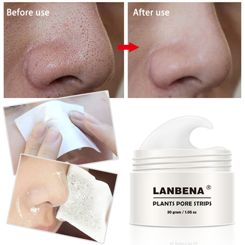2018 LANBENA Black head Remover Nose Mask Pore Strips Black mask Peel off Acne Treatment Black mask Deep Cleansing Skin Care