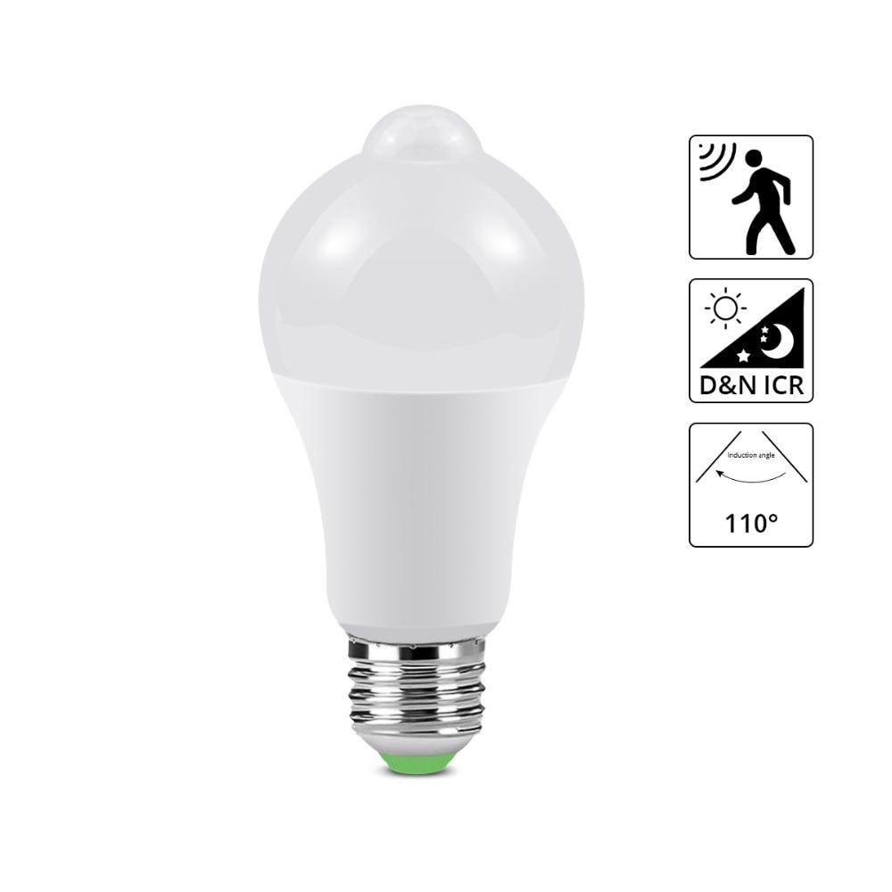 Light Bulbs Learned E27 220v 110v Pir Motion Sensor Led Bulb Sound Voice Sensor Lamp 5w 7w 9w 12w 18w Light Stair Hallway Night Emergency Lighting