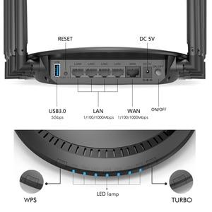 Image 4 - Wavlink מלא Gigabit AC3000 אלחוטי wifi נתב/משחזר MU MIMO tri band 2.4/5Ghz חכם Wi Fi נתב touchlink USB 3.0