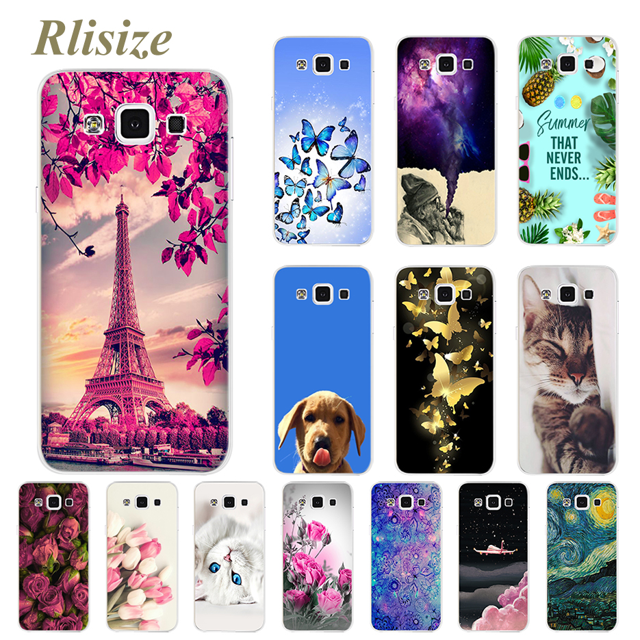 Phone Case For Samsung Galaxy A5 2015 A 5 Soft Silicone Back Cover For Coque Samsung Galaxy A5 5 A 2015 Case Cute Painted Bumper image