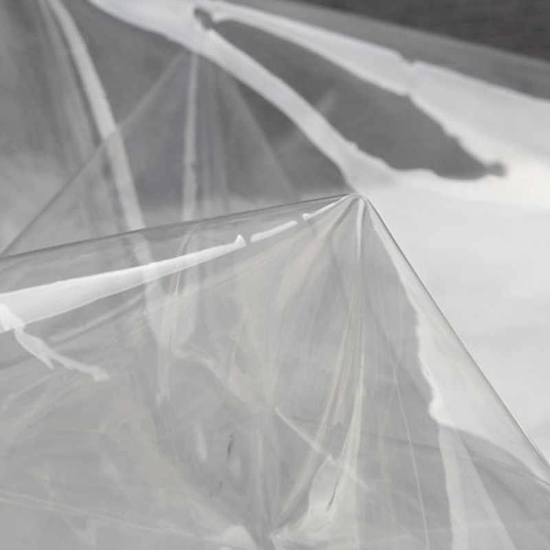 100x137 cm/Adet 0.1mm/0.3mm TPU tasarımcı kumaş Ultra perspektif giyim Yağmurluk Su inceltme Kristal plastik bez