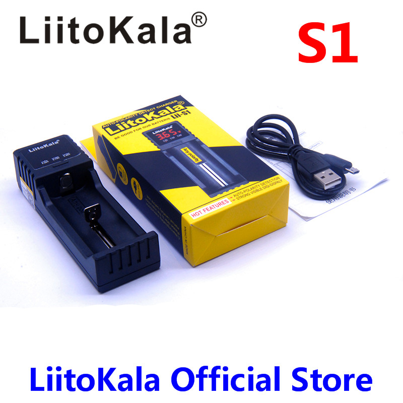 NEW 2018 Liitokala Lii-S1 Battery Charger Auto-polarity detection For 18650 26650 18350 18340 AA AAA li-ion Ni-MH batteries стоимость