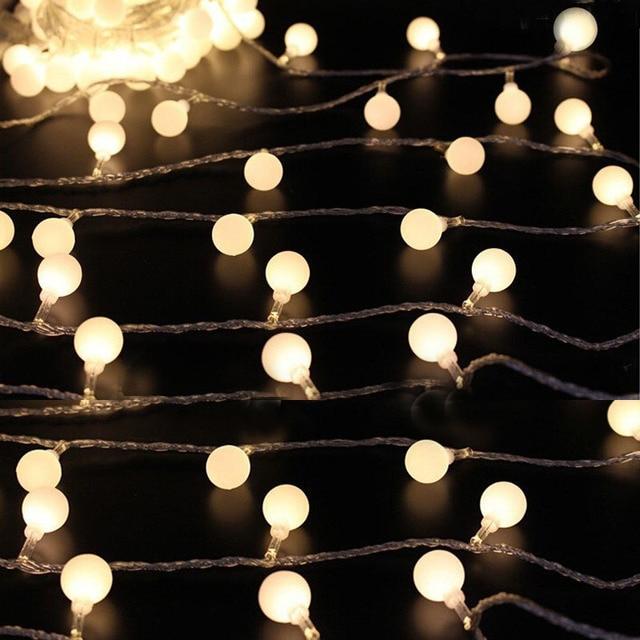 10Meter 80 Leds Globe String Lights EU220V Ball Bulbs Holiday Decoration  Lamp Festival Christmas Lights Outdoor