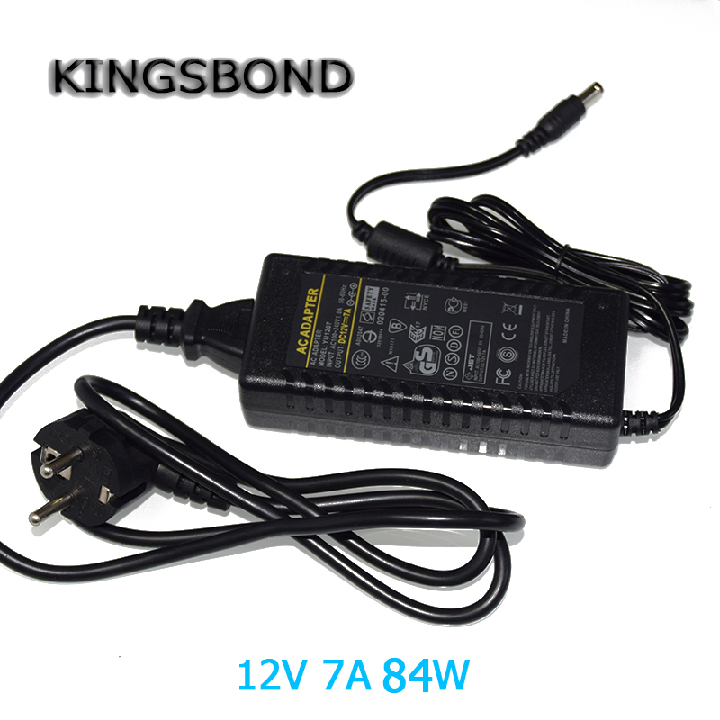 AC110V 200V to 12V 7A 84W Power Supply AC to DC led strip Adapter DC power transformer with EU AU US plug for led strip