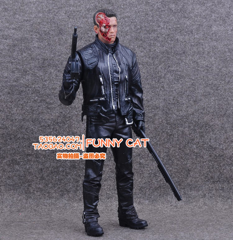Crazy Toys T-800 Battle Damage Ver. Figurine Schwarzenegger Sci-Fi Movie The Terminator Genisys 31CM Action Figure