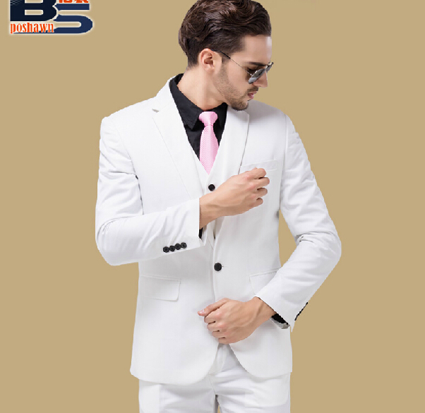 Aliexpress.com : Buy 2015 New Male White suit set Men's commercial ...