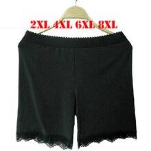 6XL 8XL плюс Размеры Для женщин короткие Леггинсы большой Размеры женский Для женщин Леггинсы Новый База Брюки для девочек для женский, черный XXL 4XL анти опустели
