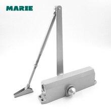Silver Color Aluminum Door Closer,For 100kg-150kg door , Home trumpet Automatic door closet цена
