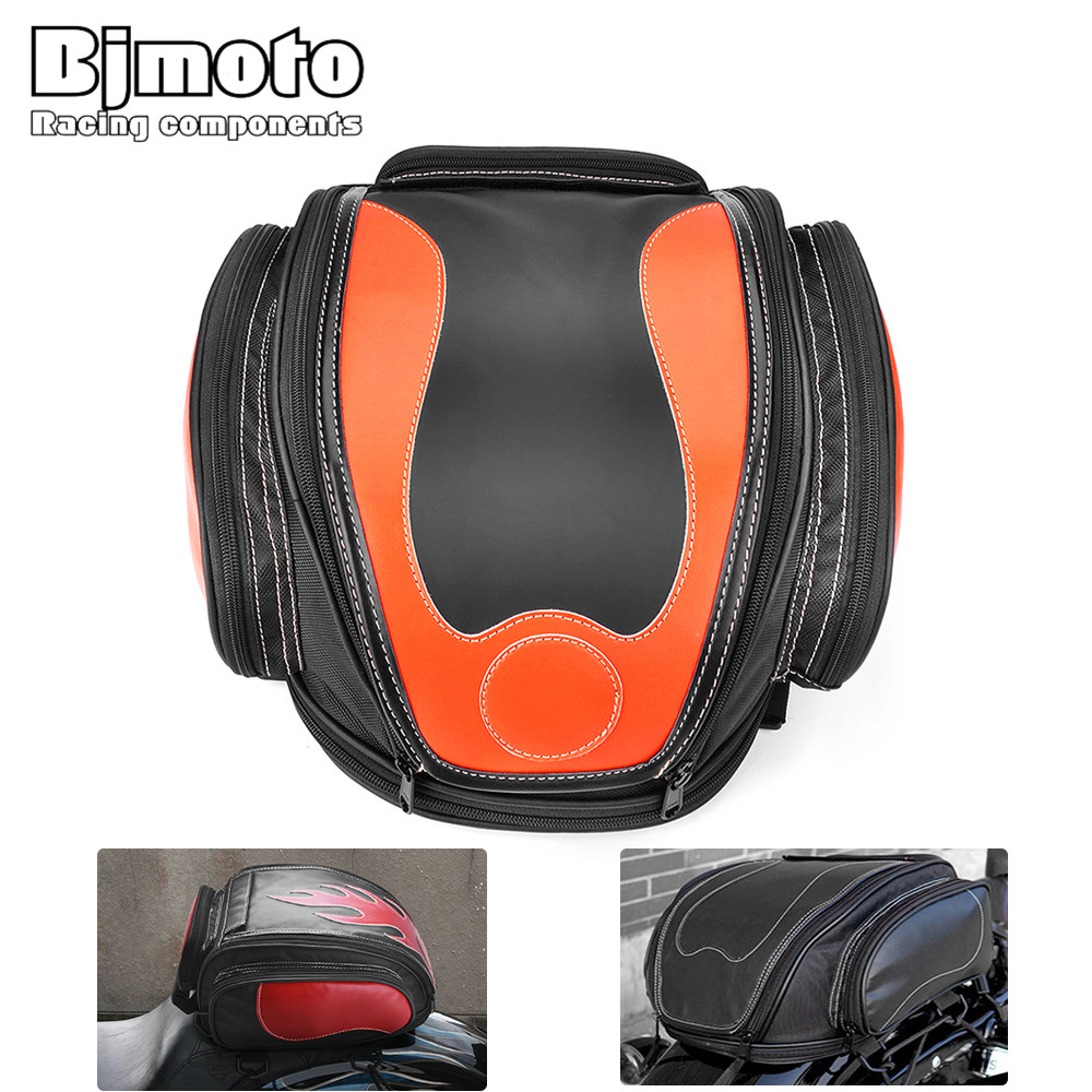 bjmoto universal Motorcycle saddlebags racing cycling saddle bags helmet Tank Bag Backpack for motocross motorbike scooter bjmoto universal motorcycle luggage bag saddle bags motorbike racing backpack helmet tank bag travel tail bag black with red