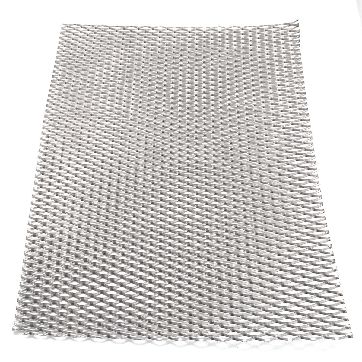 1pc Mayitr Practical Metal Titanium Mesh Sheet Heat Corrosion Resistance Silver Perforated Expanded Plate 200mm*300mm*0.5mm