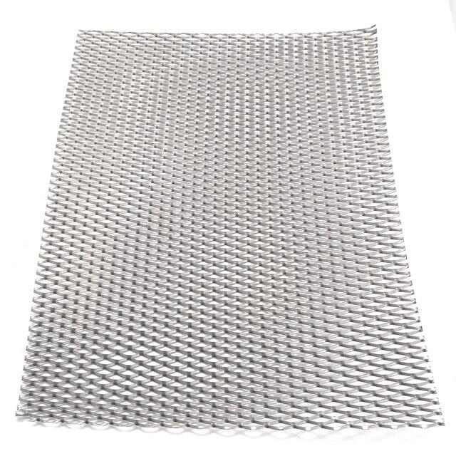 1pc Mayitr מעשי מתכת טיטניום רשת גיליון חום קורוזיה התנגדות כסף מחורר צלחת מורחבת 200mm * 300mm * 0.5mm