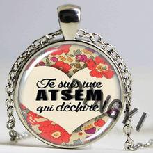 1 pièces Journée de L'enseignant cadeaux mode I AM AN Super AVS Atsem pendentif collier hommes femmes charme merci maitresse bijoux pendentif