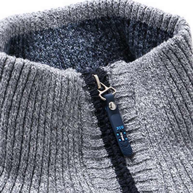 シュージン秋カーディガンのセーターカジュアルスタンド襟上着男性のジャケットコートファッションソリッドニット男性セーター