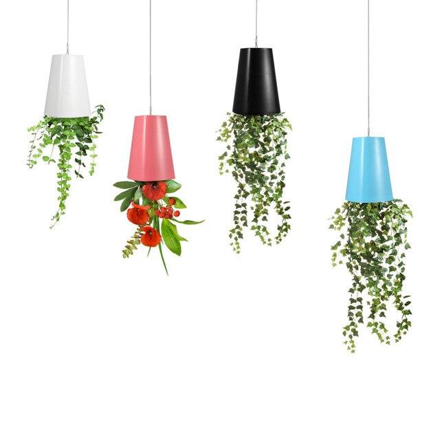 sky planter upside hanging indoor suspension flower pot upside down plant pot home garden decor. Black Bedroom Furniture Sets. Home Design Ideas