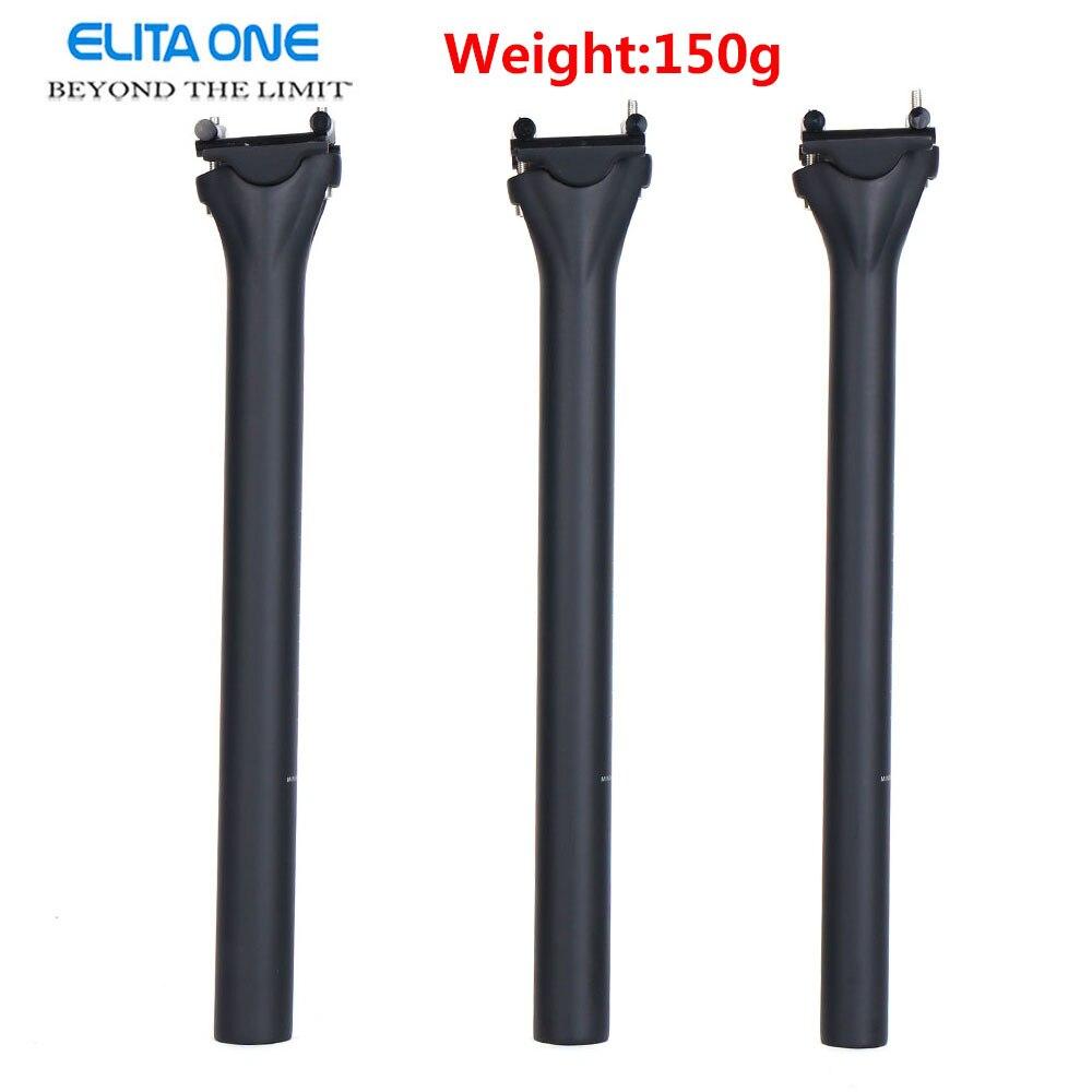 "Bicycle Seatpost 25.4mm aluminum Black Micro Adjust Allen MTB Road Bike 400mm 1/"""