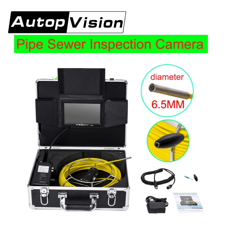 DHL Free AP70 6.5/17/23mm Underwater mini camera 7 TFT LCD 30M Cable Sewer Pipeline Endoscope Inspection Snake DVR Camera dhl free wp90 6 5 17 23mm sewer pipe inspection camera snake video endoscope camera 30m cable pipeline drain underwater camera