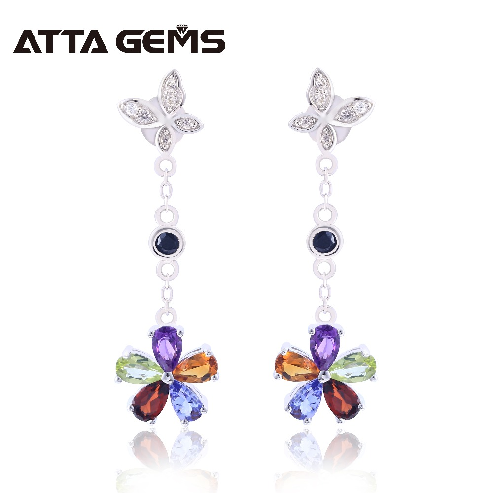Natural Amethyst Crystal Spinel Citrine Womens Drop Earring for Wedding Natural Precious Stone Tanzanite Colorful Design GiftsNatural Amethyst Crystal Spinel Citrine Womens Drop Earring for Wedding Natural Precious Stone Tanzanite Colorful Design Gifts