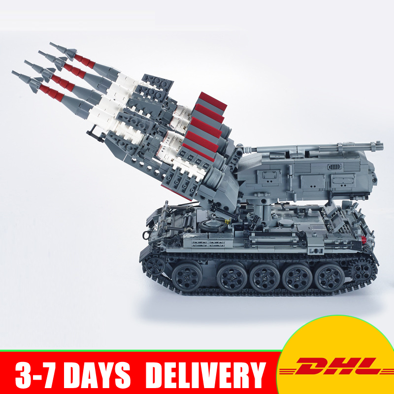 DHL Xingbao 06004 1753pcs Military Series The SA-3 missile and T55 Tank Set Children Educational Building Blocks Bricks Toys xingbao 06009 military series the extreme snowmobiling sets legoinglys building nano blocks bricks toys for children kids
