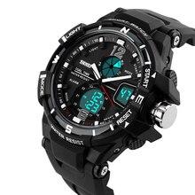 2016 de La Moda Skmei Reloj de Los Hombres A Prueba de agua LED Relojes Deportivos Militar S Choque hombres de Cuarzo Analógico Digital Reloj del relogio masculino