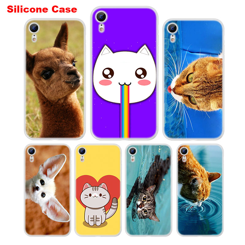 Matte Silicone Case Cartoon Cat Cats Dog Style for iPhone XS XR Max X 8 7 6 6S Plus 5 5S SE Phone Case Cover