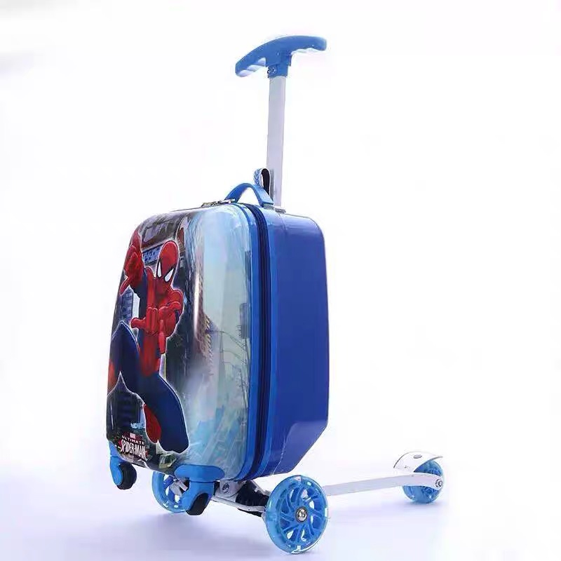 Bag Suitcase Scooter Rolling-Luggage Lazy Girl Kids Child Cartoon Gift Skateboard