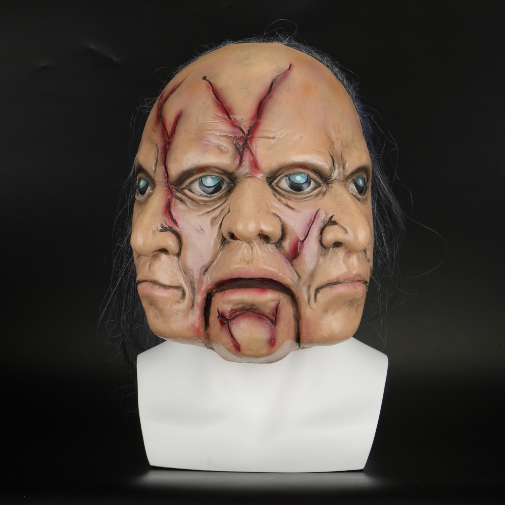 Halloween Masks Latex Party Horrible Scary Prank Three Faces Horror Mask Fancy Dress Cosplay Costume Mask Masquerade (3)