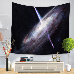 Image 2 - Psychedelic Cosmic Series Stars Tapestry Starry Sky Fabric Wall Hanging Decor Polyester Curtains Plus Table Cover Yoga