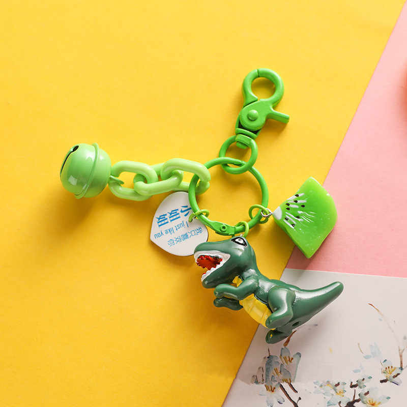 Cute Cartoon kreatywny dinozaur rysunek lalki brelok pcv breloki dla torba kobieca Charms wisiorek – biżuteria dekoracji
