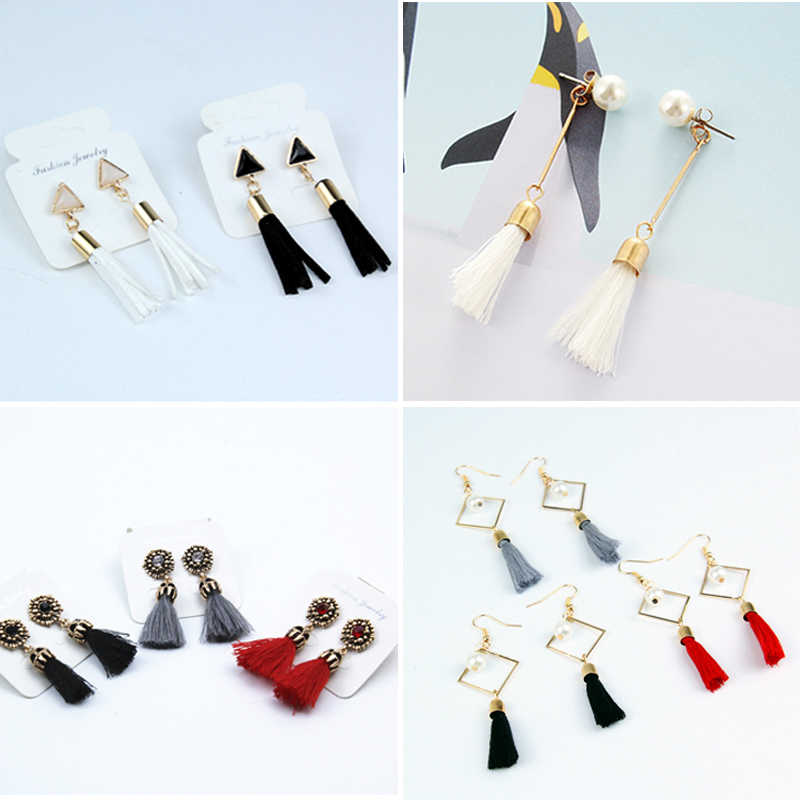 2017 Fashion Vintage Earrings For Women Jewelry Bright Brick Earrings Flower Ancient Long Tassel Drop Earrings Dangle Brincos