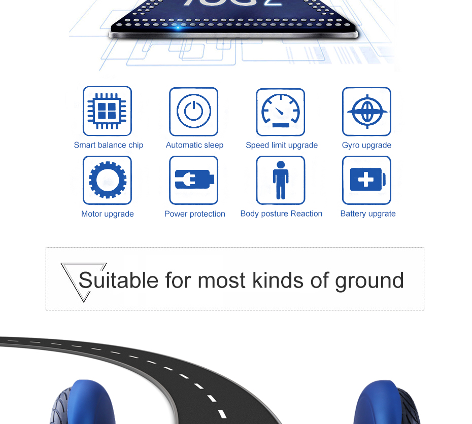 10 inch self balancing electric Hoverboard with speaker and Bluetooth 12