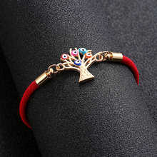 Adjustable Bracelet Turkey Red Rope Gift Evil Fashion Golden Life-Tree Lucky Colorful