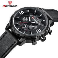 LONGBO Luxury Casual Hollow Out Dial Unique Design Watches Genuine Leather Date Calendar Men Women Waterproof