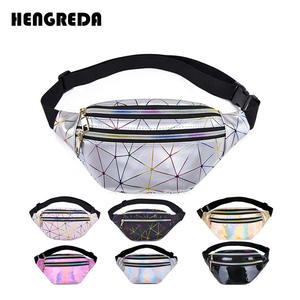 Hengreda Pouch Belt-Bag Fanny-Pack Laser-Chest-Phone Holographic Pink Silver Black Female