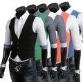 5 Cores Sólidas Homens Colete 2016 Primavera Magro Vestido Feito à Medida Terno de Negócio dos homens da Marca Homens Gilet Coletes Coletes de Moda Topos jaqueta