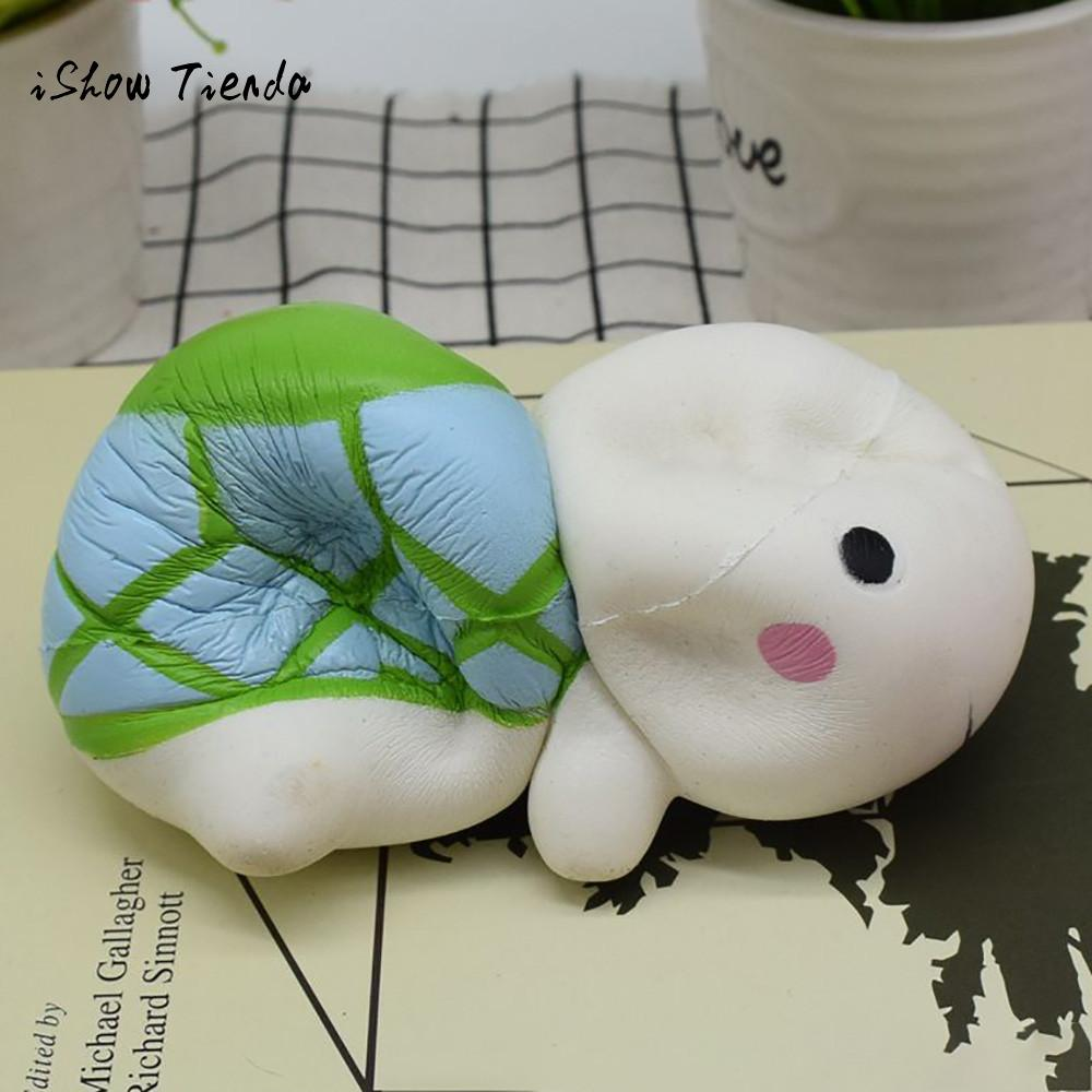 ISHOWTIENDA Cute Tortoise mochi squishy Slow Rising Cream Scented Decompression prank toys Squeeze a toy Antistress interesting
