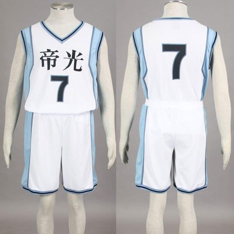 Kuroko no Basuke Basket TEIKO school basketball suit mens uniforms boys sport clothes No.7 Midorima Shintaro cosplay costume