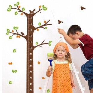 Papier de parede enfants, autocollant mural oiseau, décalcomanie murale arbre généalogique, décoration espelhos