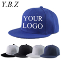 YBZ Snapback Caps Blank Hip Hop Hats Customized Net Baseball Caps LOGO Printing Adult Hats Casual Peaked Hat LK02