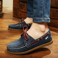 2017 de Moda de Estilo Británico Zapatos del Barco Los Hombres Del Otoño Del Resorte de Juventud Lace Up Planos Cómodos Ocasionales de Los Hombres Zapatos de Los Hombres de Punta Redonda zapatos