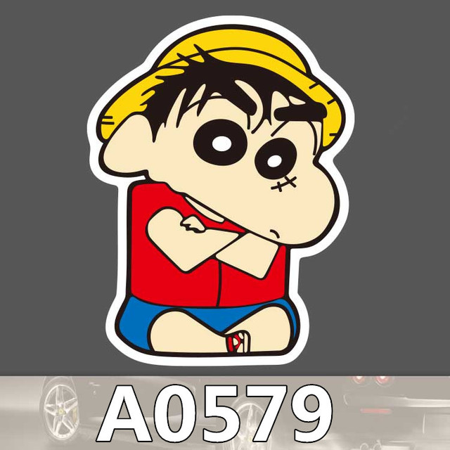 Us 0 35 9 Off Bevle A0579 Crayon Shin Chan Waterproof Sticker For Cars Laptop Luggage Skateboard Graffiti Cartoon Notebook Stickers In Stickers From