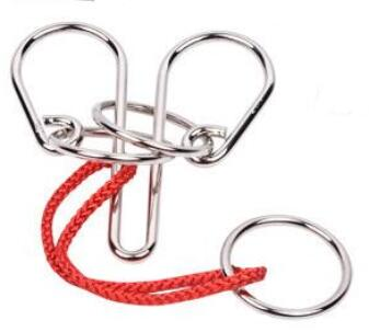 Metal Wire Rope Ring Puzzle Traditional Educational IQ Magic Game Puzzles Solution For Adults Children