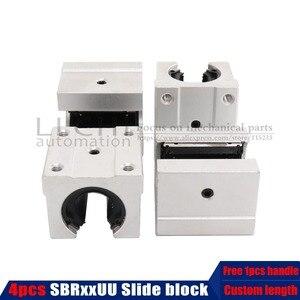 Image 1 - 4 pcs SBR12UU SBR12/16/20 Linear Bearing Open Linear Bearing Slide block parts linear slide for linear guide SBR12 sbr16 sbr20
