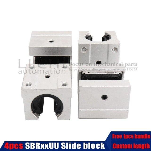 4 pcs SBR12UU SBR12/16/20 Linear Bearing Open Linear Bearing Slide block parts linear slide for linear guide SBR12 sbr16 sbr20