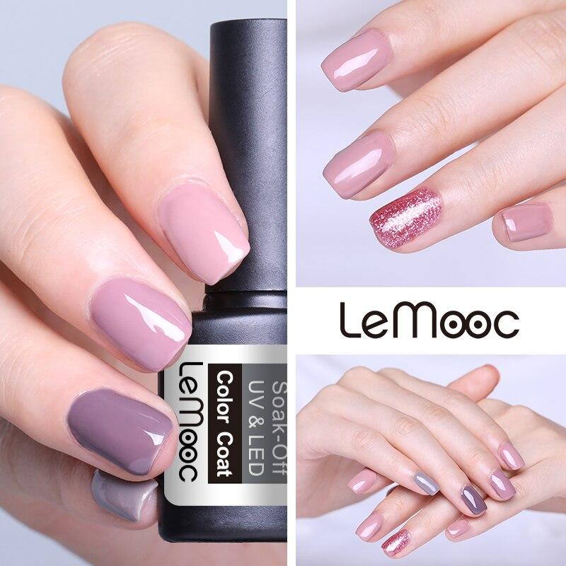 LEMOOC 12ml 3D Glitter Gel Nail Polish Rose Gold Shinning Sequins Gel Varnish Soak Off UV Led Manicure Nail Art Lacquer in Nail Gel from Beauty Health