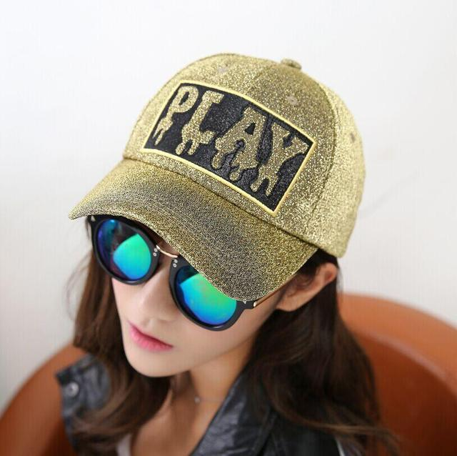2017 New Bone Letter PLAY Silver Baseball Cap Spring And Autumn Brand  Snapback Men And Women fede0b78527e