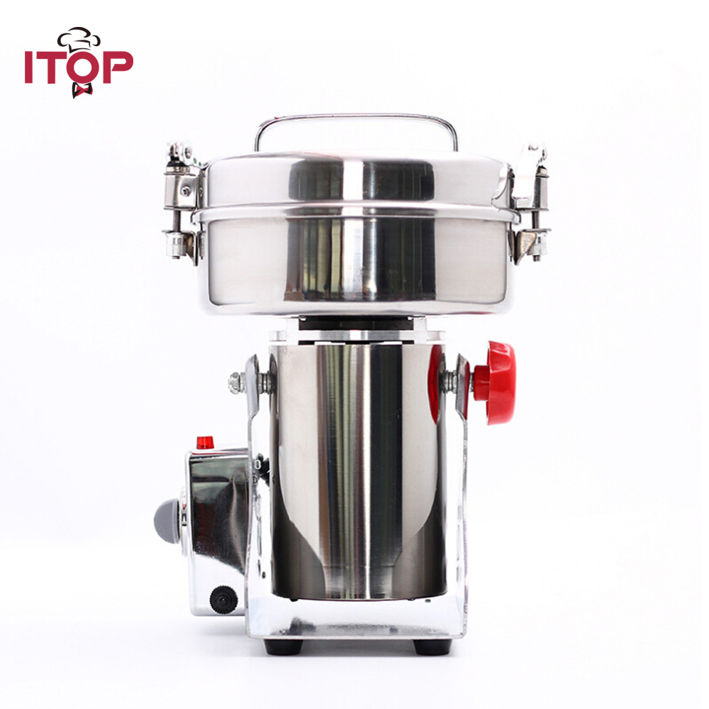 ITOP Big Capacity 2800W 1000g Pulverizer Machine Swing Type Automatic Mill Herb Grinder Electric Grain Grinder 110V 220VITOP Big Capacity 2800W 1000g Pulverizer Machine Swing Type Automatic Mill Herb Grinder Electric Grain Grinder 110V 220V